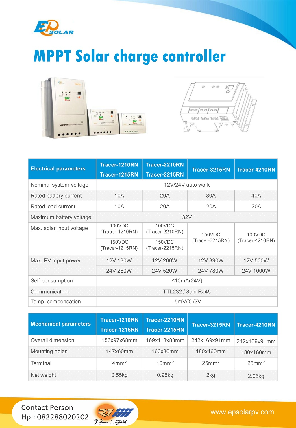 Solar Charge Controller Tracer RN-Series