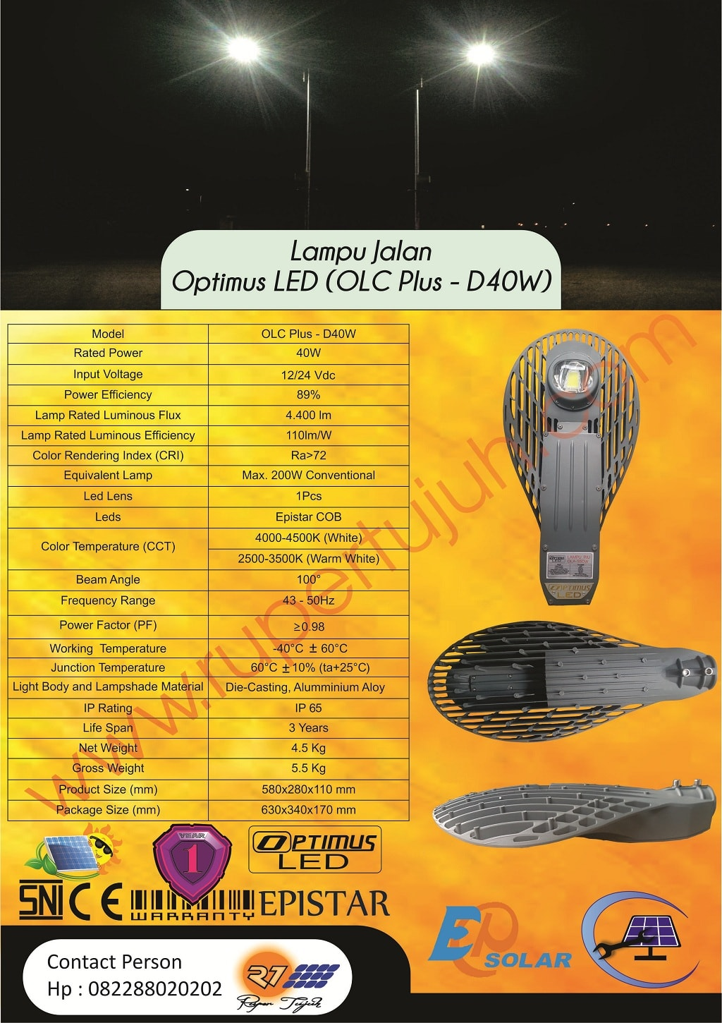 Optimus Led DC (OLC Plus) D40W