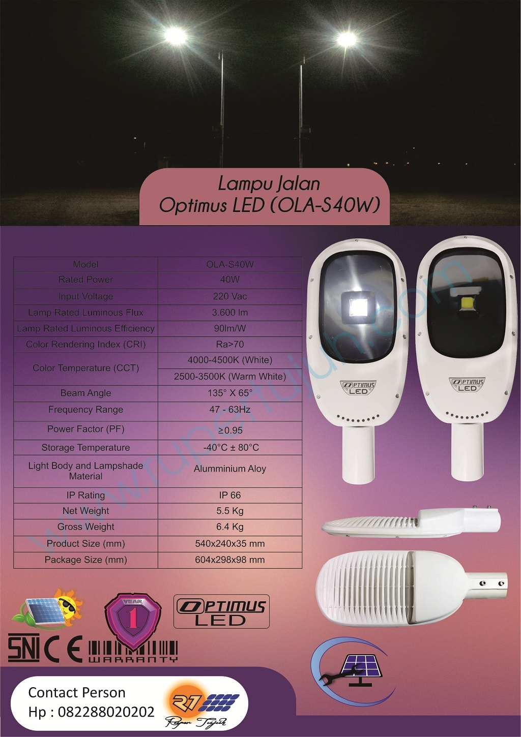 Optimus Led AC (OLA) S40W