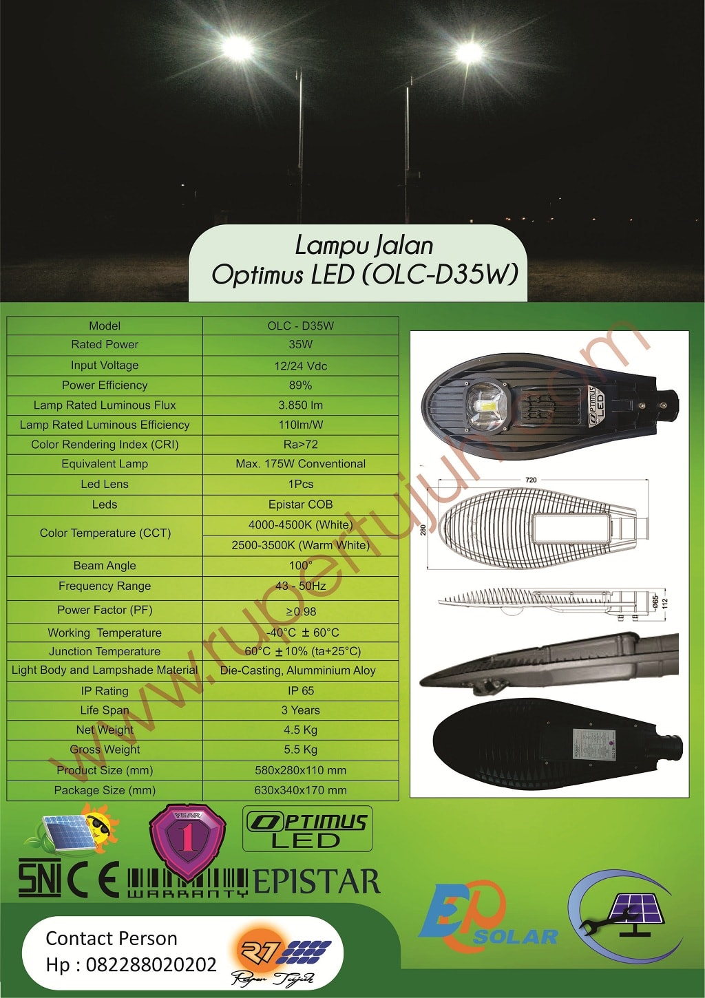 Optimus Led DC (OLC) D35W